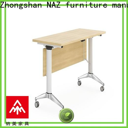 NAZ furniture professional boardroom training table with wheels for training room