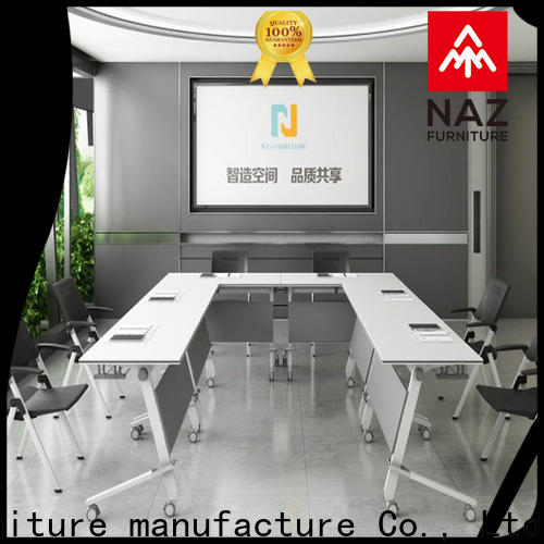NAZ furniture movable square conference table on wheels for school