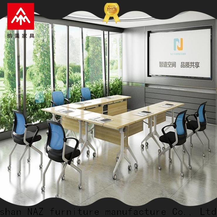 comfortable flip top conference tables steel on wheels for training room