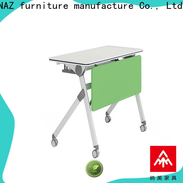 NAZ furniture computer boardroom training table with wheels for home