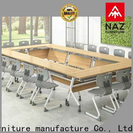 NAZ furniture on boardroom table on wheels for training room