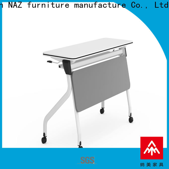 NAZ furniture writing training room tables and chairs with wheels for office