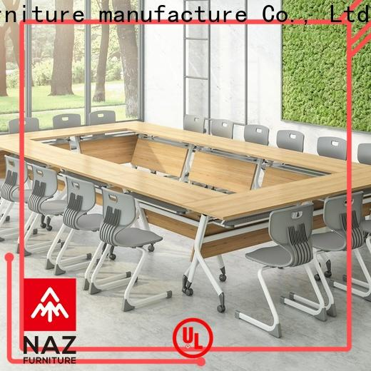 NAZ furniture movable conference room tables folding on wheels for office