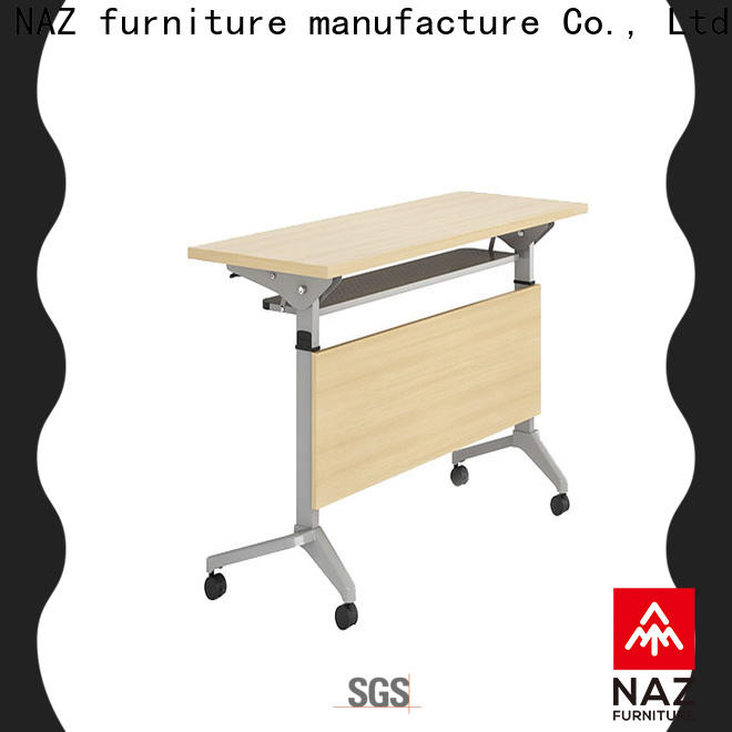 computer training desk table with wheels for meeting room