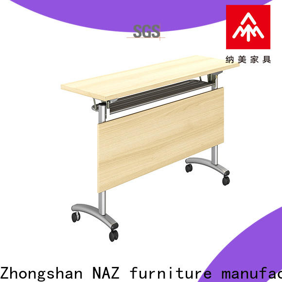 NAZ furniture 8001200140016001800mm aluminum training table with wheels for office