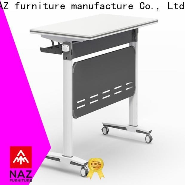 trapezoid flip top training tables ft012 with wheels for office