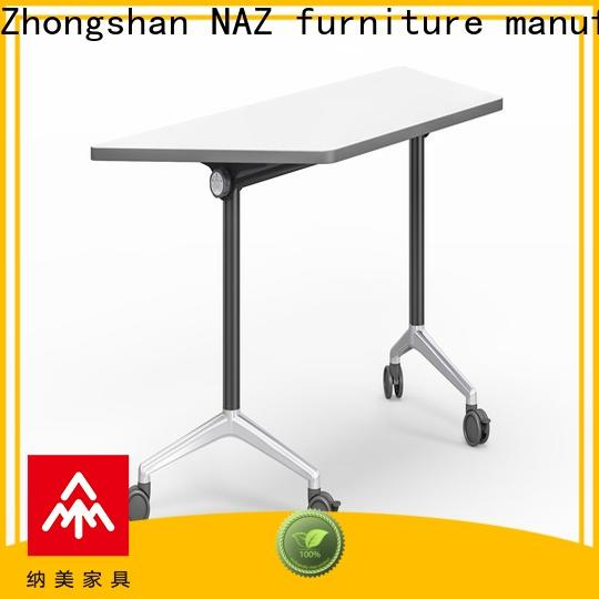 NAZ furniture wooden training room desks with wheels for school