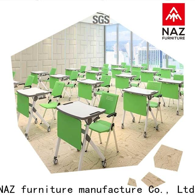 NAZ furniture classroom foldable table with wheels factory for meeting rooms