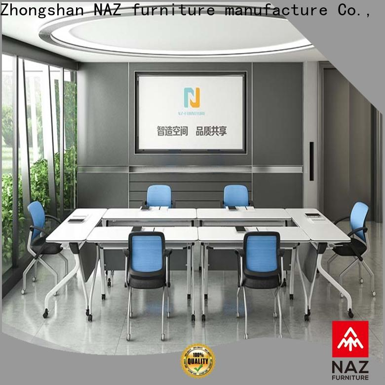 NAZ furniture midtohigh white conference table for sale for office