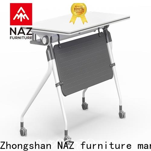 NAZ furniture trapezoid aluminum training table for conference for school