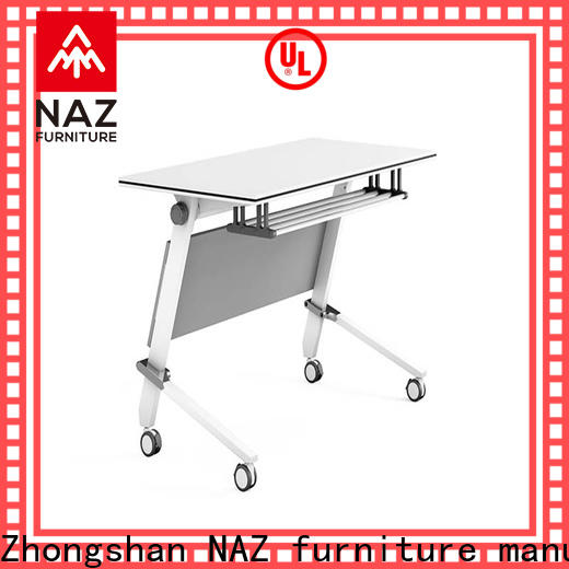 trapezoid modular training room furniture save with wheels for office