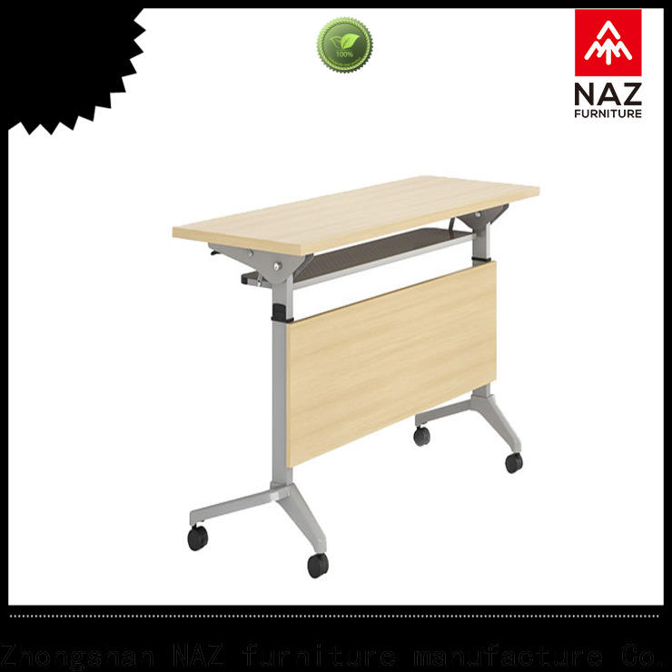 NAZ furniture folding training tables with wheels with wheels