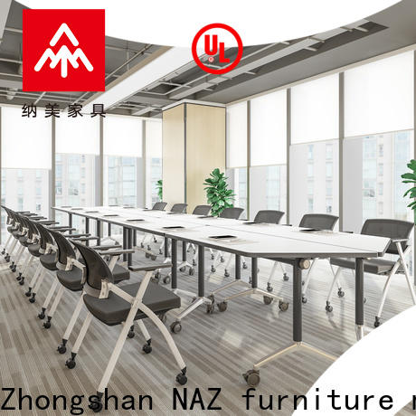 NAZ furniture comfortable folding conference room tables with wheels manufacturer for school