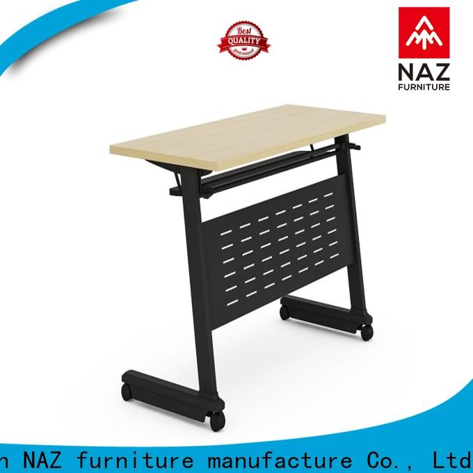 NAZ furniture trapezoid foldable training table with wheels for school