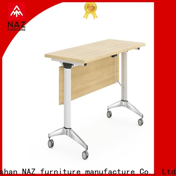 trapezoid office training furniture ft030 with wheels