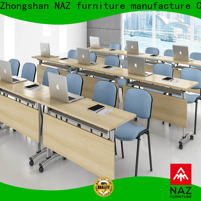 NAZ furniture durable mobile conference table on wheels for training room