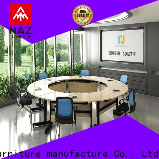 NAZ furniture folding 10 conference table on wheels for training room