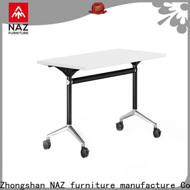 NAZ furniture professional folding training table with wheels for training room