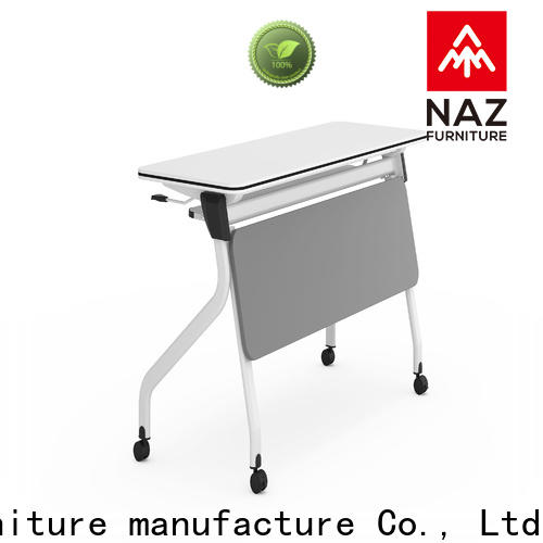 NAZ furniture writing training tables with wheels supply for training room