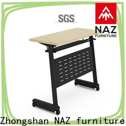 computer training room furniture movable with wheels for school