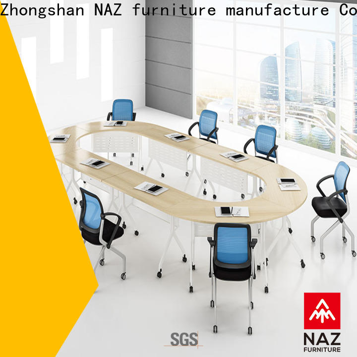 NAZ furniture professional conference room tables on wheels for office