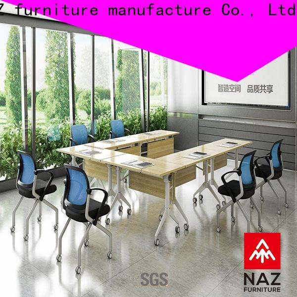 durable white conference table room on wheels
