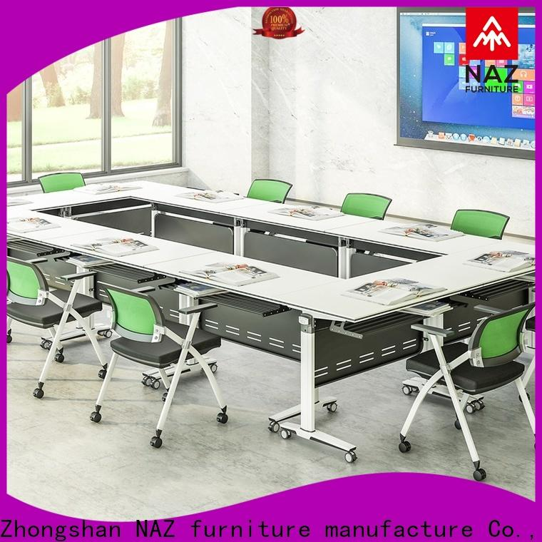 NAZ furniture durable 10 conference table on wheels for school
