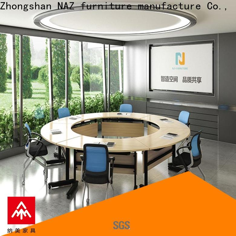 NAZ furniture movable conference room table and chairs manufacturer for office