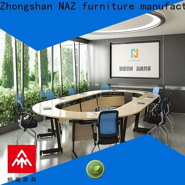 NAZ furniture movable conference table and chairs on wheels for meeting room
