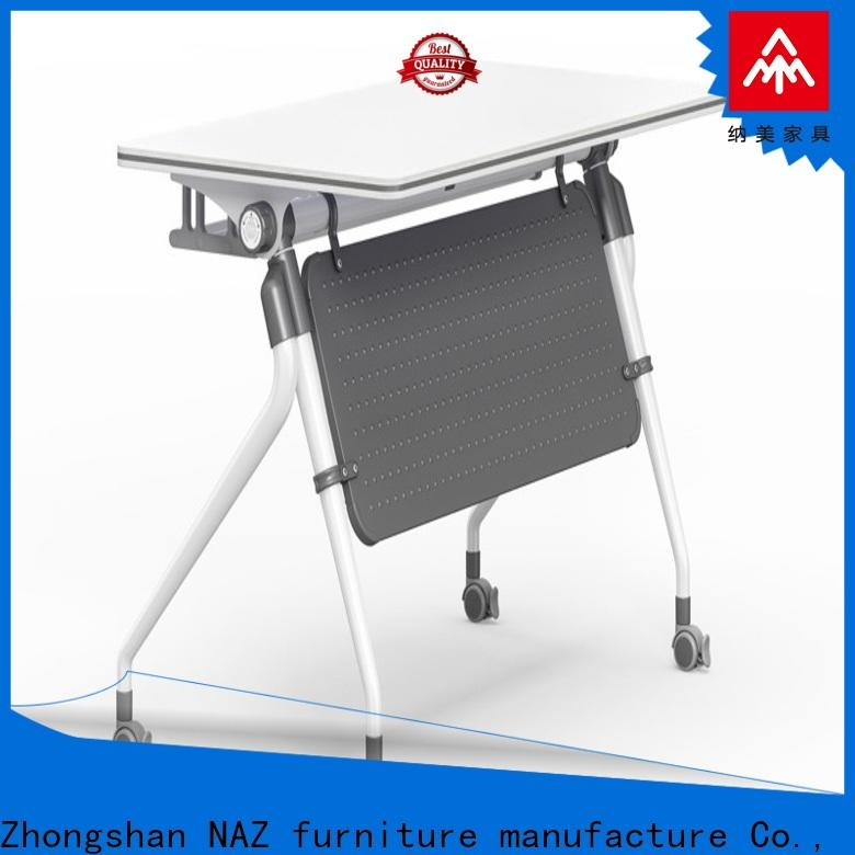 NAZ furniture professional folding training table with wheels for meeting room