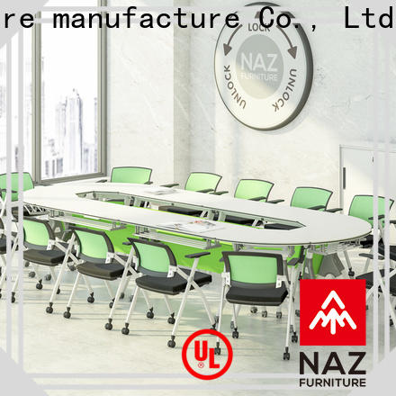 NAZ furniture frame oval conference table on wheels for training room