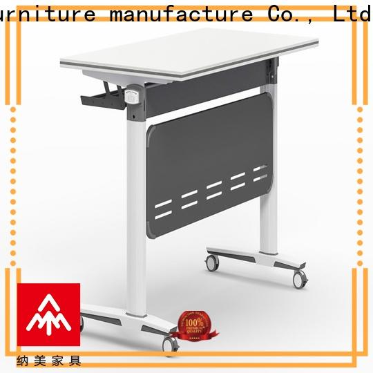 NAZ furniture trapezoid training tables with wheels supply for training room