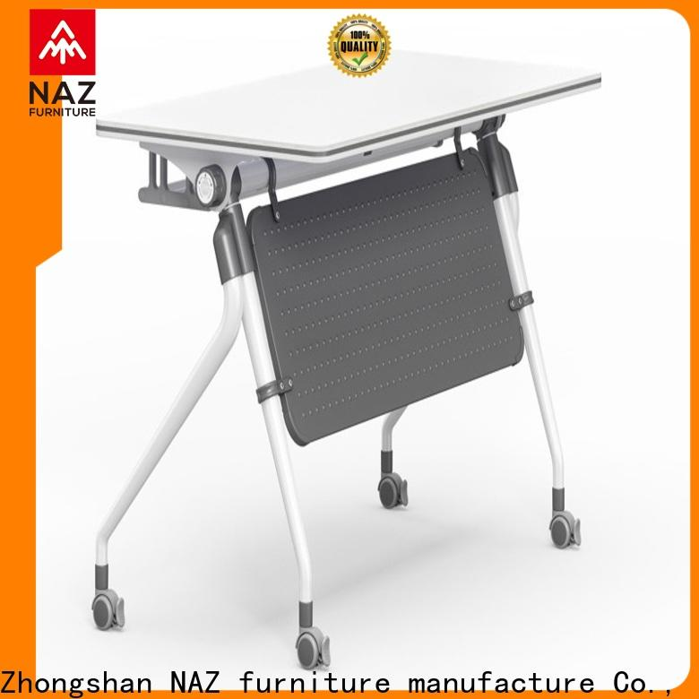 NAZ furniture trapezoid training table design for sale for meeting room