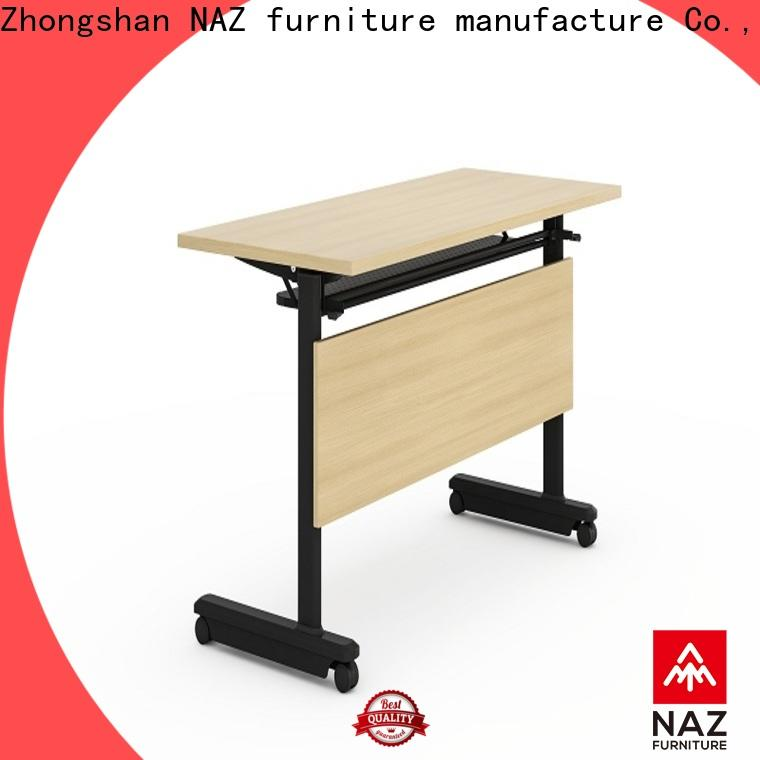 NAZ furniture trapezoid training tables with wheels for conference