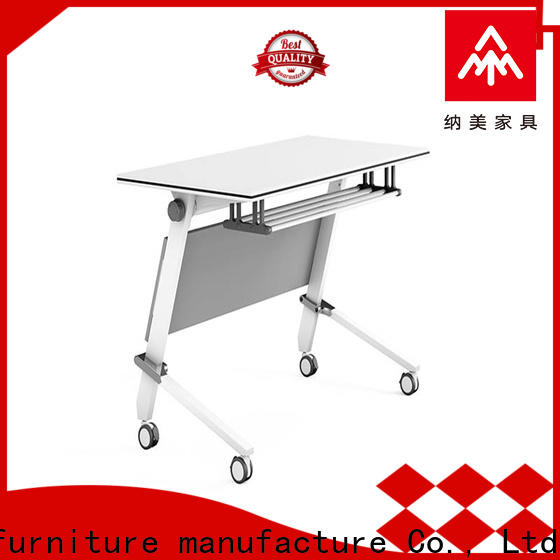NAZ furniture computer boardroom training table with wheels
