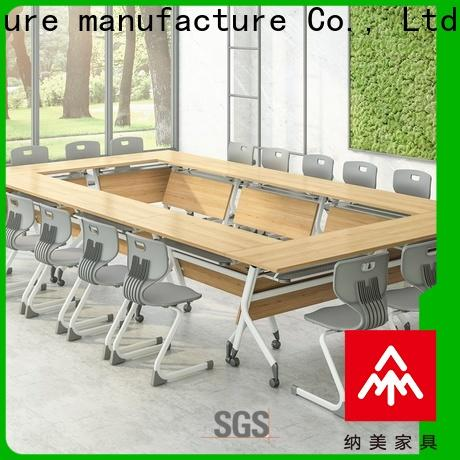 movable 12 conference table end on wheels for training room