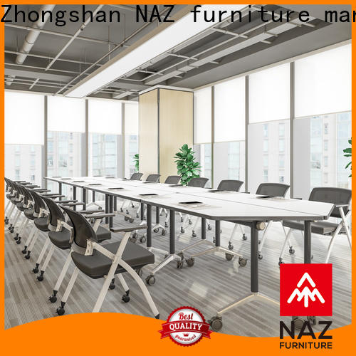 NAZ furniture durable boardroom table on wheels for training room
