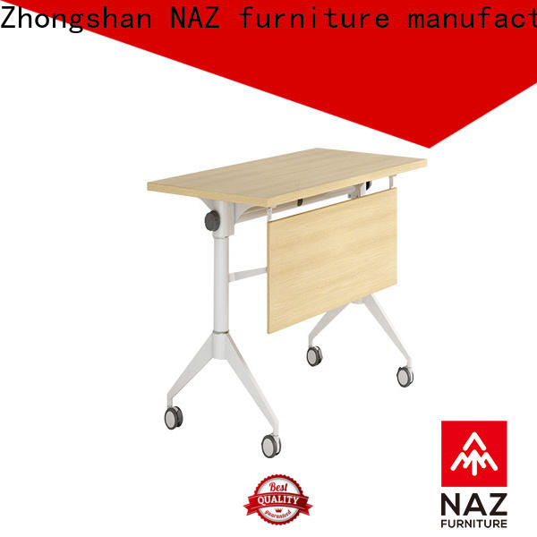 NAZ furniture trapezoid training room furniture with wheels for training room