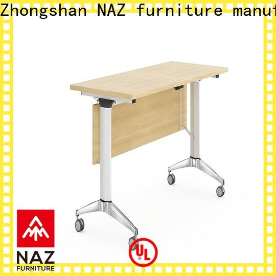 NAZ furniture folding boardroom training table with wheels for training room