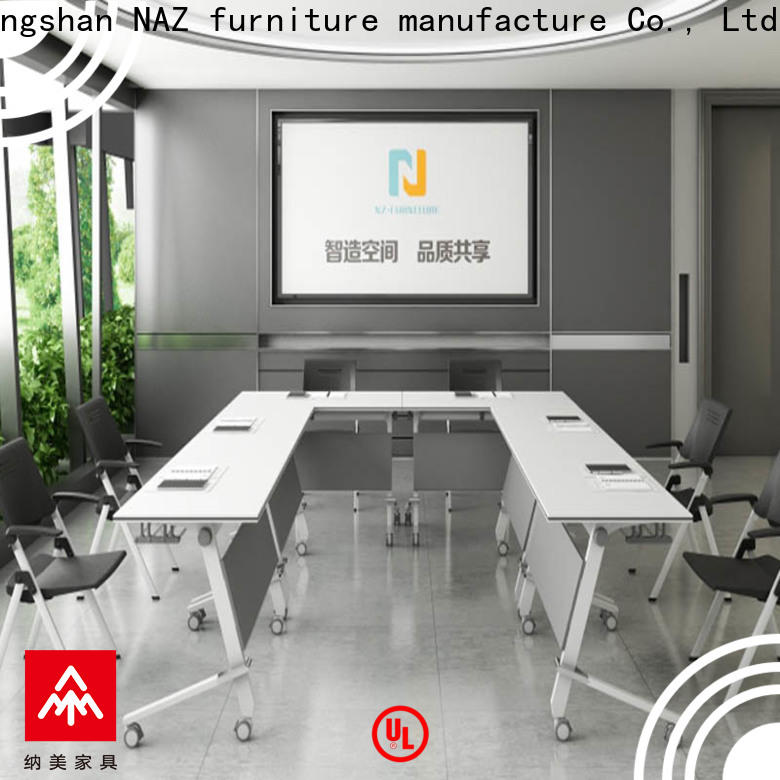 comfortable square conference table flip on wheels for training room