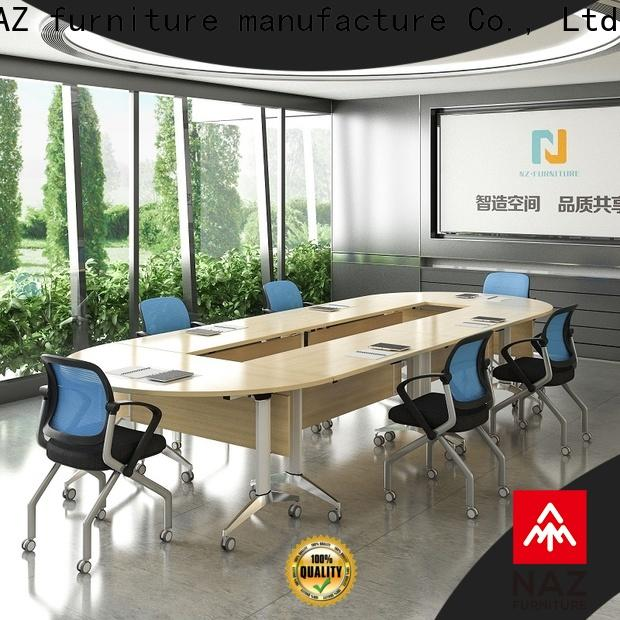movable steelcase conference table movable on wheels for training room