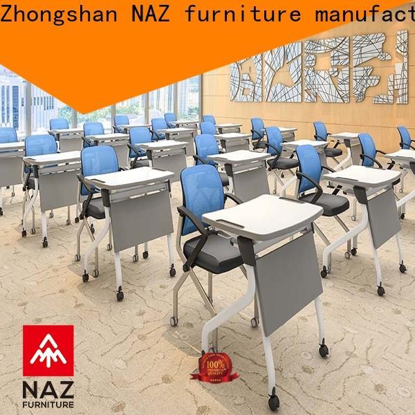 NAZ furniture ft010s folding student desk on wheels for office