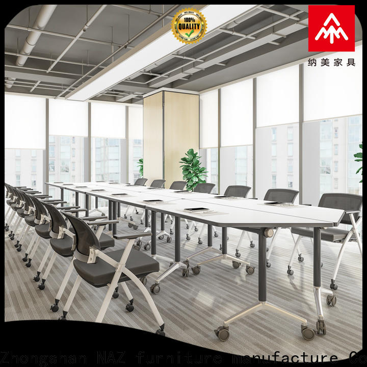 NAZ furniture professional white conference table for conference