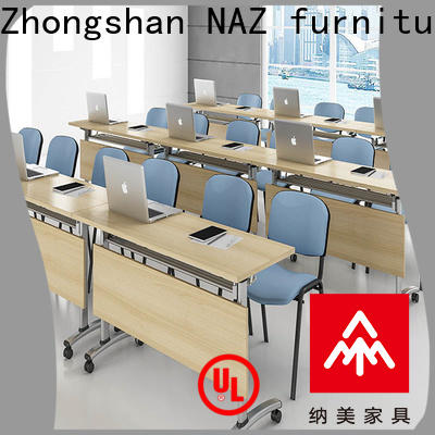 NAZ furniture durable modular conference room tables on wheels for school