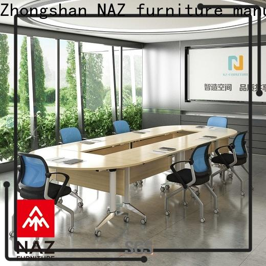 durable 12 conference table modular on wheels for meeting room