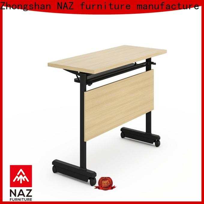 NAZ furniture panel training tables with wheels with wheels for home