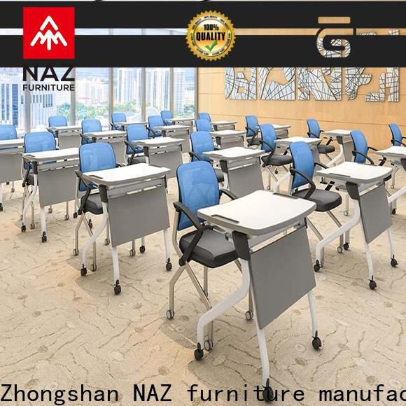 NAZ furniture movable folding desk factory for training rooms