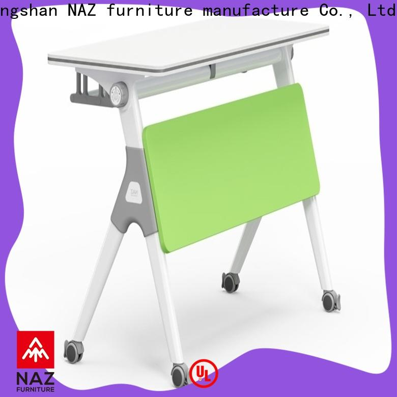 NAZ furniture writing training desk with wheels