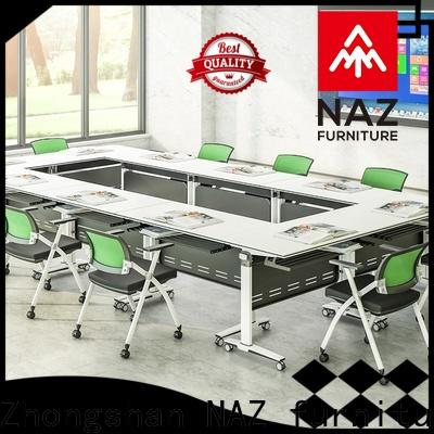 professional oval conference table ft018c on wheels for training room