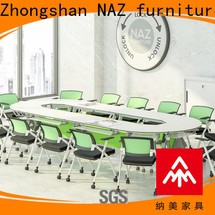 NAZ furniture ft019c flip top conference tables on wheels for school